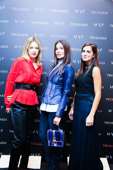 Gaia Trussardi, Ilaria Spada and Maria Vittoria Paolillo at the #MVPforTrussardi event in Rome. #MVPCreations #Trussardi