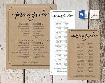 Printable Price List Template