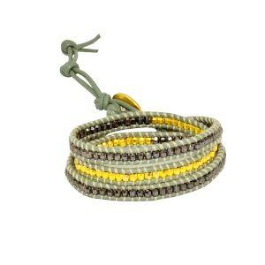 Spiral metal beaded bracelet // Metal boncuklu sarmal bileklik - Dora By Ebru