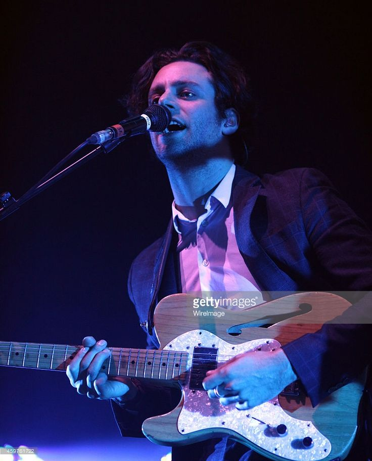 Felix White of The Maccabees performs of Kasabian performs at BIC on November 25 2014 in...