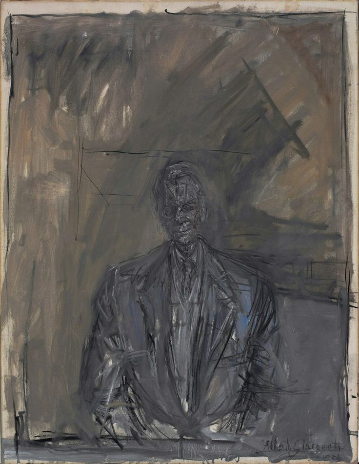 Alberto Giacometti, 'Portrait of G. David Thompson', 1955
