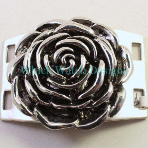 Metal Flower Large Bracelet Connector - Which Watch Designs