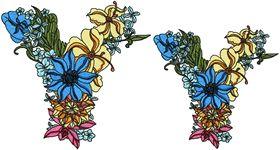 Exotic Flowers Font - Letter Y