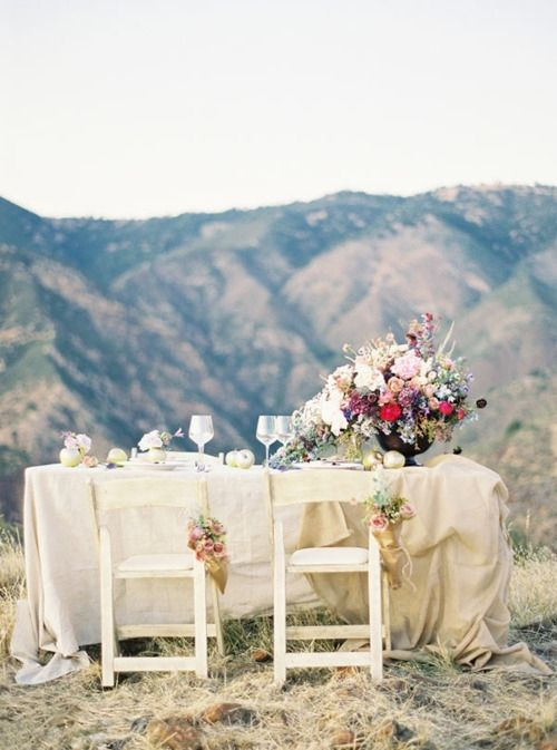 .Outdoor Wedding, Inspiration, Rustic Romances, Dreams, Dinner Time, Grooms Tables, Outdoor Sets, Mountain Wedding, Wedding Tables Sets