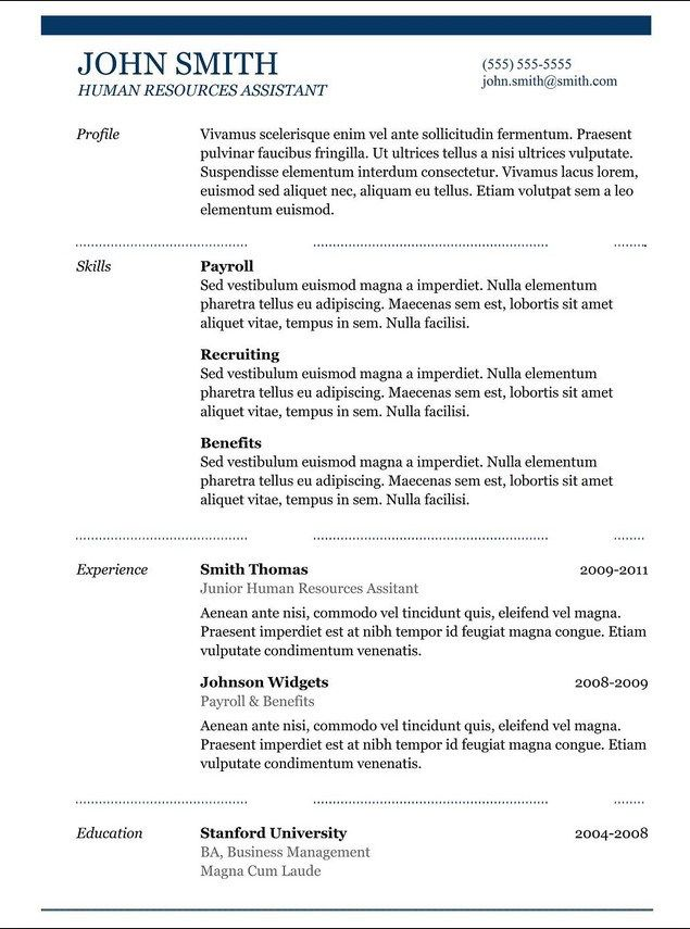 Copy And Paste Resume Templates Pinterest Resume template - Resume Template Copy And Paste