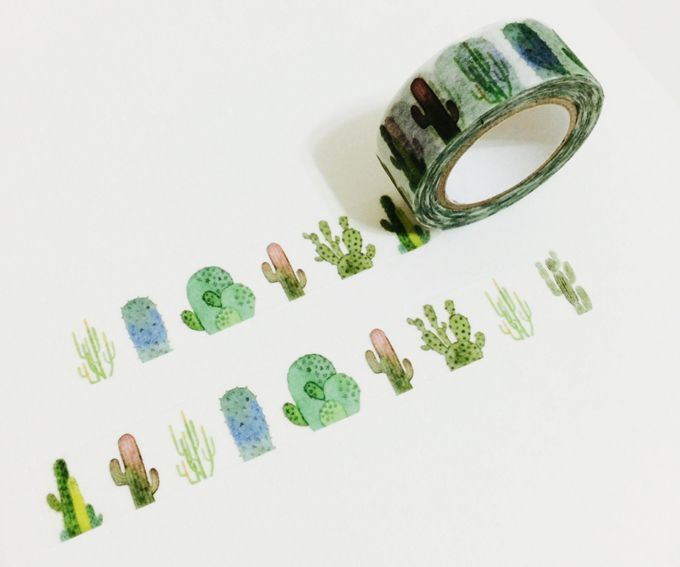 Cute Cacti on washi tape - what more could you ask for?