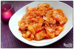 Veganer Teller: Soja-Geschnetzeltes in Weißkohl | VEGAN |