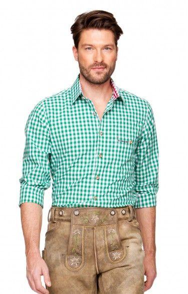 Oktoberfest chequered shirt Rufus green