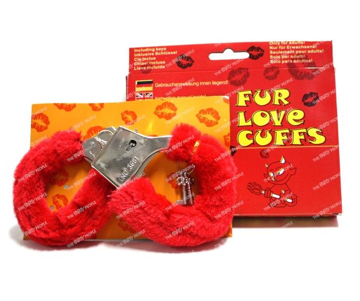 Hand Cuffs - Love Cuffs, Red