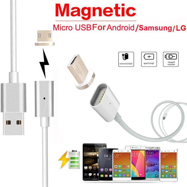 Binmer 2.4 un cargador micro usb cable adaptador magnético de cargador para samsung android para lg ljj0112
