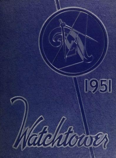"1951 ""Watchtower"" of Beverly Hills high school in California"