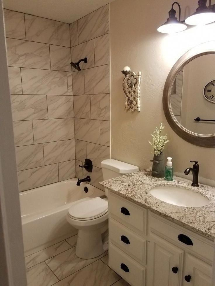 How To Make A Small Bathroom Look Bigger Tips And Ideas Smallbathroomremodel Smallbathroomid Small Bathroom Remodel Bathroom Remodel Master Bathrooms Remodel