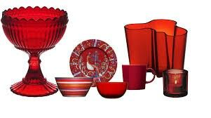 Iittala design in red