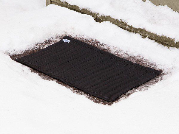 These snow melting mats, discovered by The Grommet, help you handle slippery patches efficiently. They release only as much rock salt as needed to melt the ice.