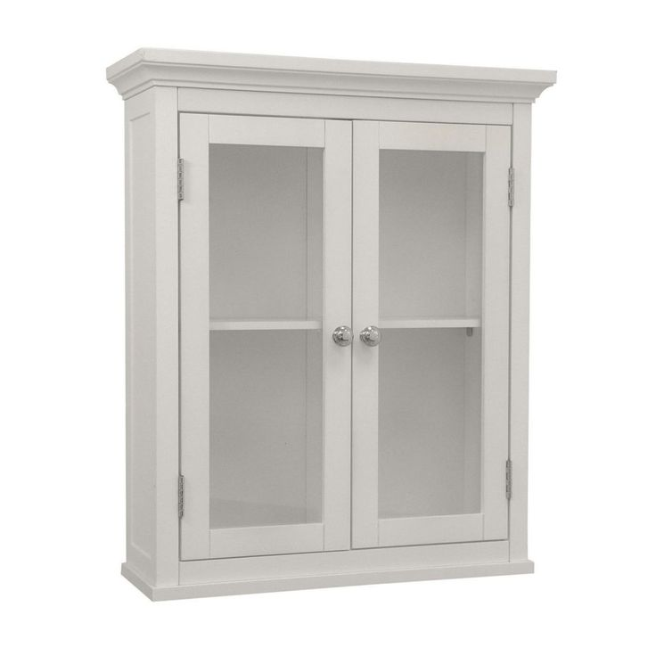 Elegant Style Sumter X Wall Mounted Wall Cabinet With Translucent Double  Windows, White Finish