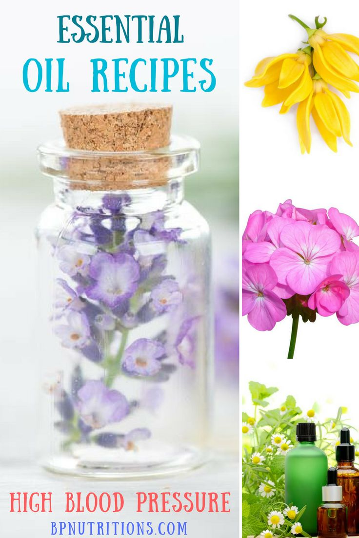 Natural Essential Oil Recipes for High Blood Pressure  Learn how to make great essential oils to support your health, heart and cardiovascular system with the following ingredients:  - Ylang Ylang - Lavender - Marjoram - Clary sage - Carrier Oil - Cypress - Coconut oil - Geranium - Sandalwood