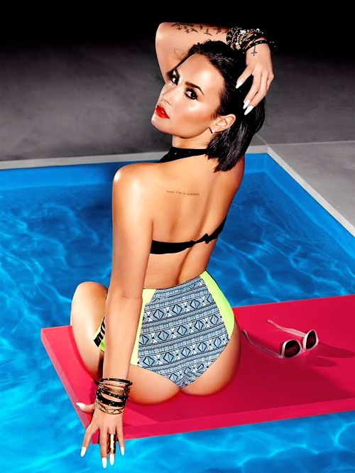 Demi Lovato photographed for 'Cool For The Summer' single shoot
