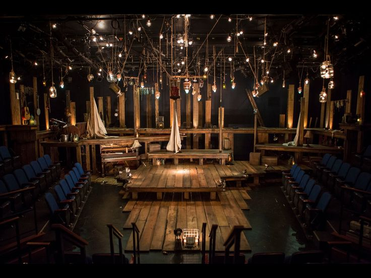 """The Old Man and the Old Moon"" set. Patricia said she loved the style of this for the play. It might be a little too rustic for a NYC apartment but I get the 'storytelling' style of it.  It would work well in our black box theater."