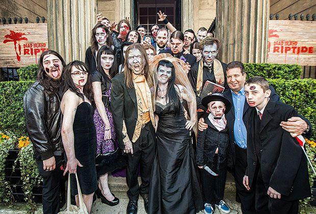 Зомби-тематическая свадьба в Великобритании