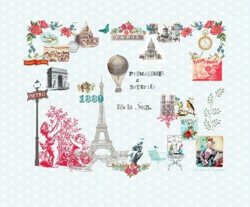 """Paris Je t'aime"" from Room 7 Travel Memories Collection at LAVTHEM.cz"