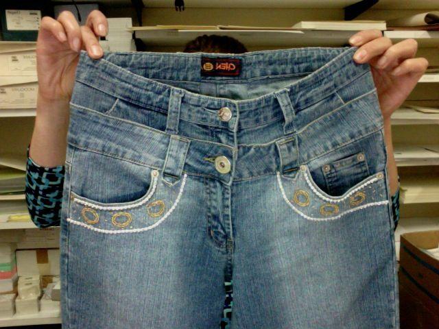 jeans a vita bassa....modificati!