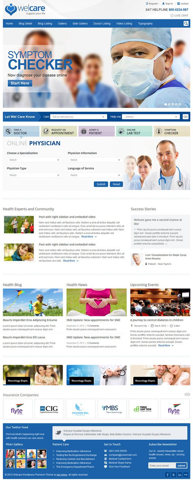 Welcare – Responsive Medical Website Template