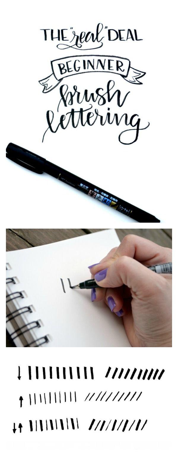 Beginner Brush Lettering Tutorial