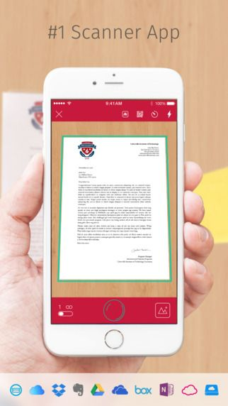 Scanbot is your premium mobile scanner app for documents and QR codes. Create high-quality PDF or JPG scans. Send them via email or upload them to iCloud Drive, Box, Dropbox, Evernote and other cloud services.