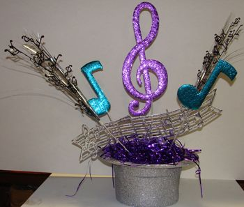 Music Hat Centerpiece - 1 for $29.99