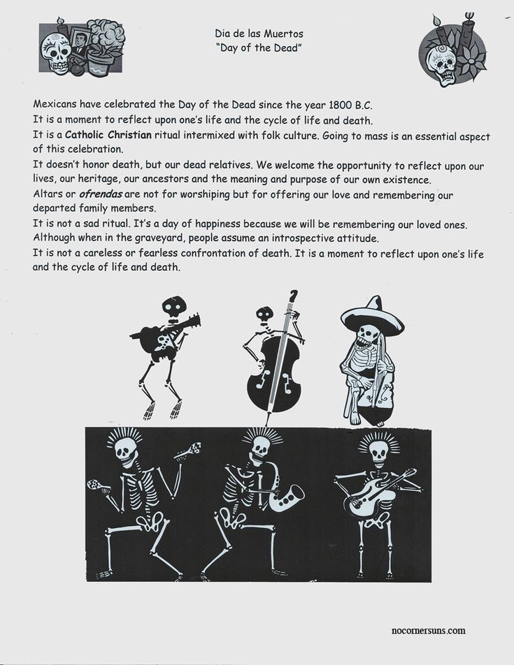 This Dia de las Muertos/Day of the Dead  handout is an introduction to the holiday for primary or secondary students.   Day of the Dead is...