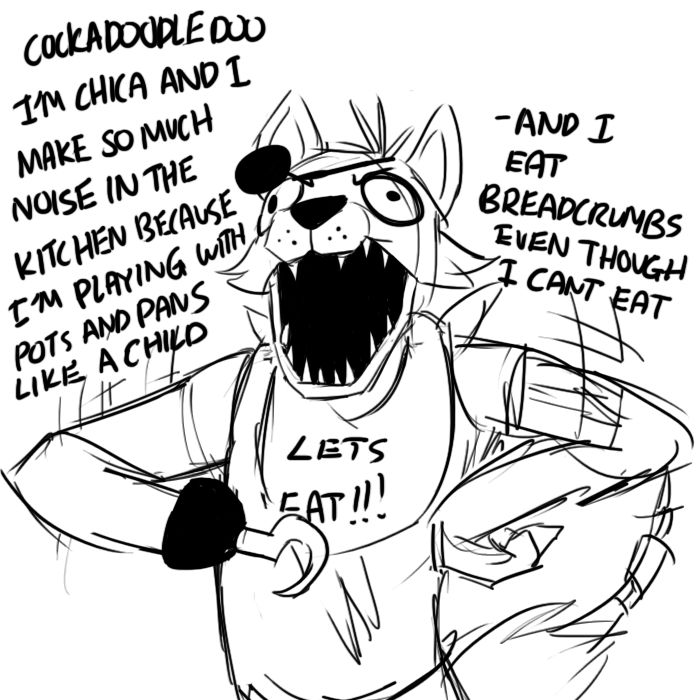 Foxy making fun off chica- Five Nights at Freddy's @Kitcatjustice