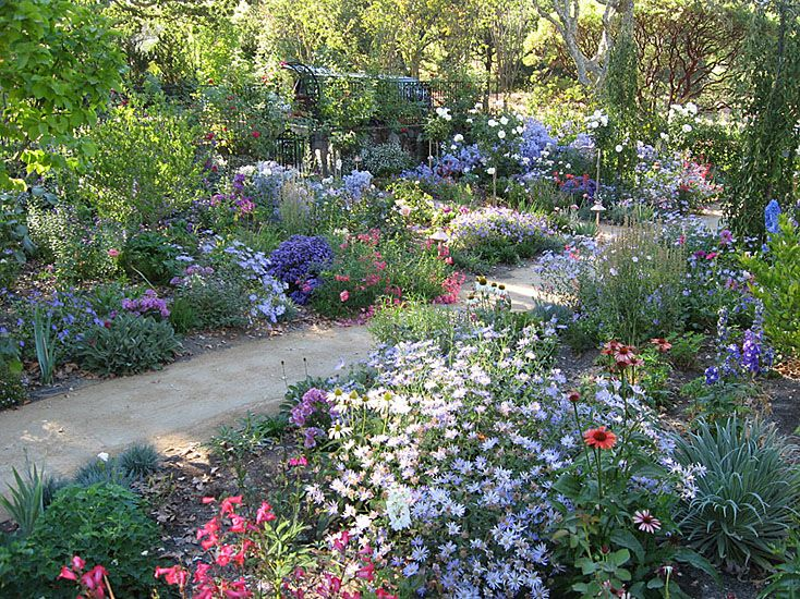 Cottage Garden Designs garden design with cottage garden ideas with wide cottage covered by different plants with backyard landscape Cottage Gardens