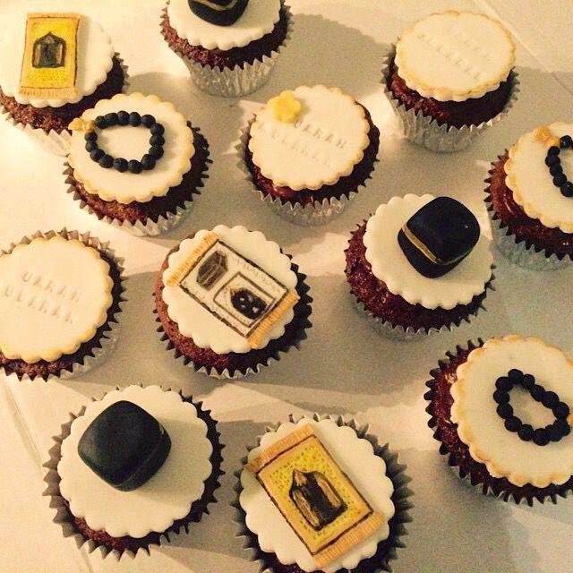 Umrah cupcakes! Chocolate orange sponge & buttercream with handmade, handpainted details.