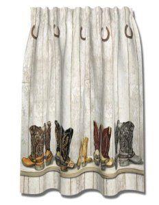 Amazon.com: WESTERN Cowboy BOOTS Saddle UP SHOWER CURTAIN Bath NEW: Home U0026