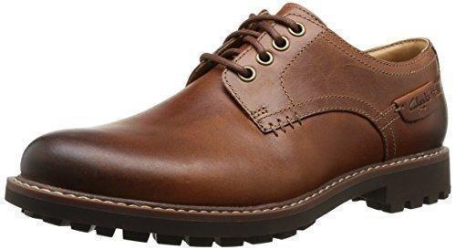 Oferta: 78.8€. Comprar Ofertas de Clarks Montacute Hall - Zapatos con cordones Derby para hombre, color dark tan lea, talla 40 barato. ¡Mira las ofertas!