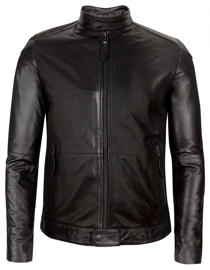 $675 / Ted Baker London / Wildone Biker Leather Jacket