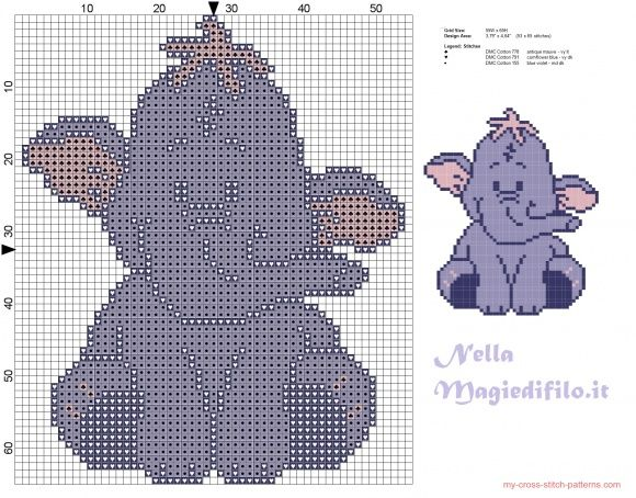Eeyore friend of Winnie the Pooh (click to view) Disney (Cross - winnie pooh küche