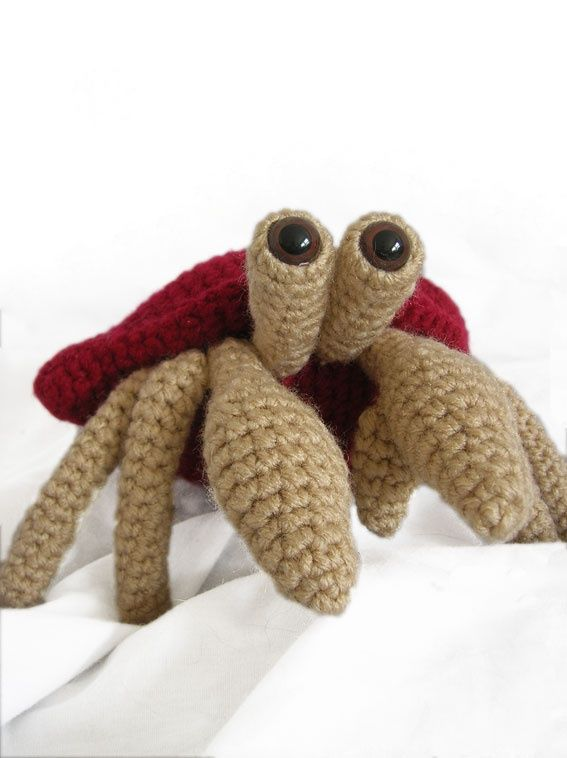 Amigurumi Bernard l'Ermite  crochet pattern $3,50.