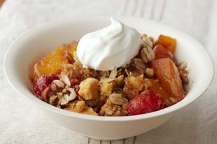 Peach and Raspberry Crisp recipe ~ 110 calories