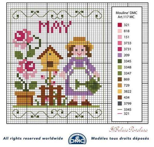 Maggio è il mese delle rose .. Et voilà, la piccola giardiniera che ne prende cura. http://www.iltelaiopovolaro.it/index.php?a=categoria&id_categoria=5