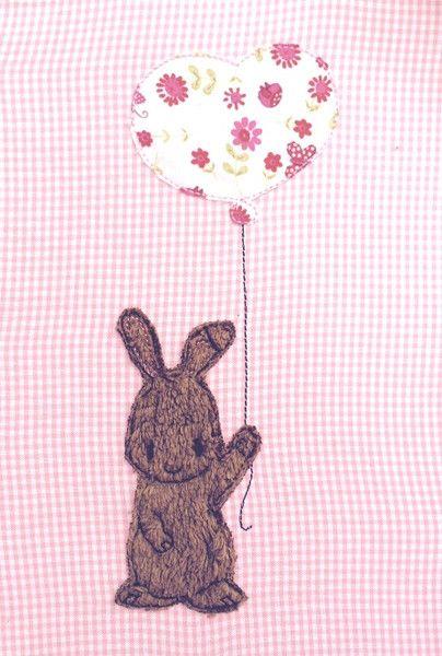 Stickmuster - Hase mit Luftballon Doodle Stickdatei - ein Designerstück von feinliebshop bei DaWanda