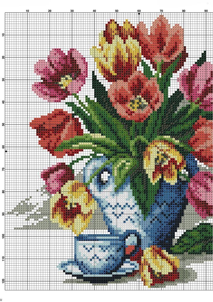 Kanaviçe Çiçek Şablonları (2)