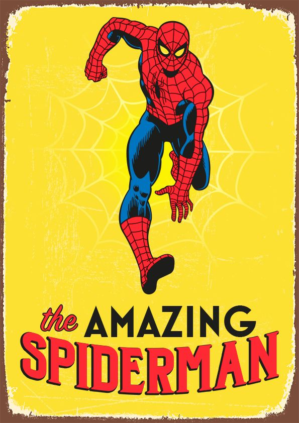 Retro Spiderman Poster