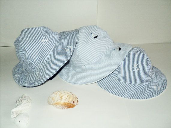 Baby Sun Hat -  Seersucker Toddler Sun Hat - Choose Sailboats, Anchors Or Birds - Made To Order Size Newborn to 7 Years - Summer Sun Hat on Etsy, $23.73 AUD