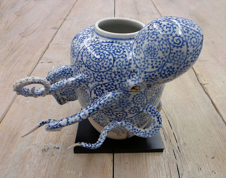 Artist Sculpts Surreal Ceramic Vessels That Are Half-Pottery Half-Octopus