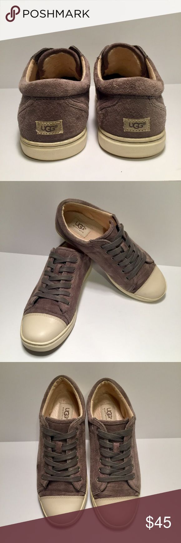 UGG sneakers UGG sneakers in grey suede. Inside heel and tongue lining are made of soft UGGpure wool. Rubber soles. In great pre-owned condition - worn only a few times. UGG Shoes Sneakers