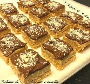 Cubotti di cocco biscotti e nutella