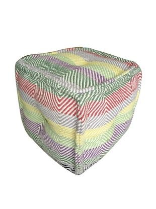68% OFF Boheme Collection Cotton Pouf, Cube, Multi