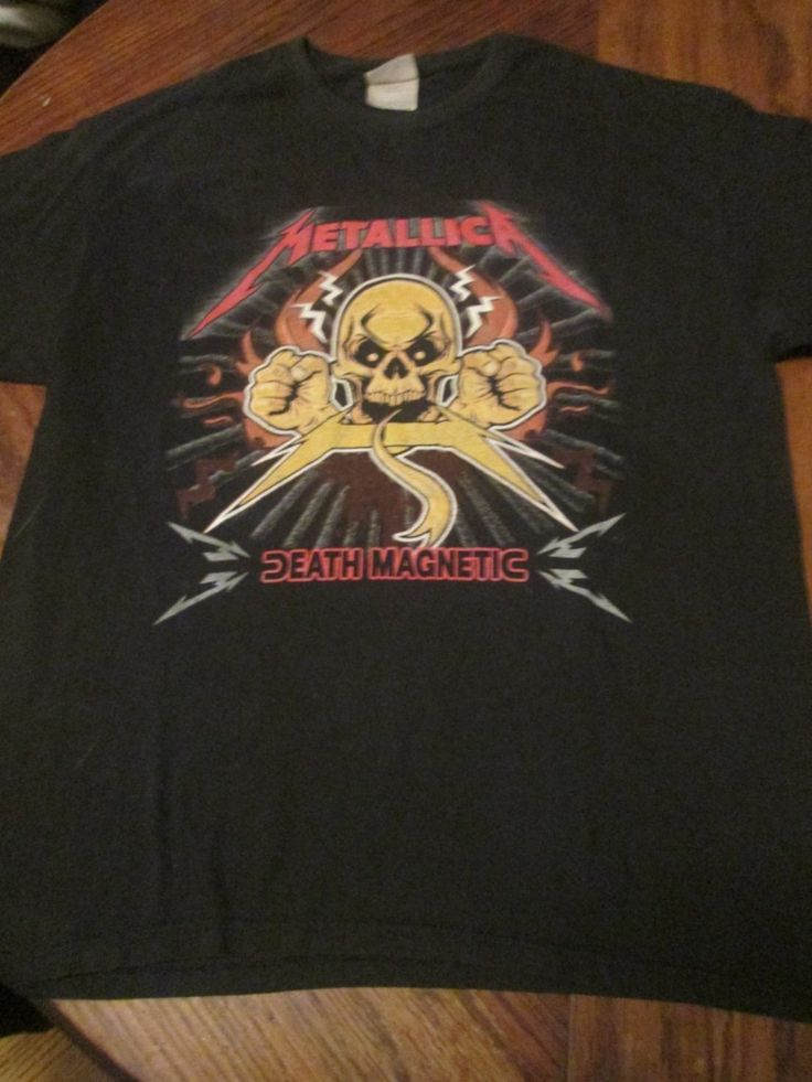 Metallica-Death Magnetic Concert Tour Shirt 90's Metal  Size Large  www.4EverYoung.Ecrater.com