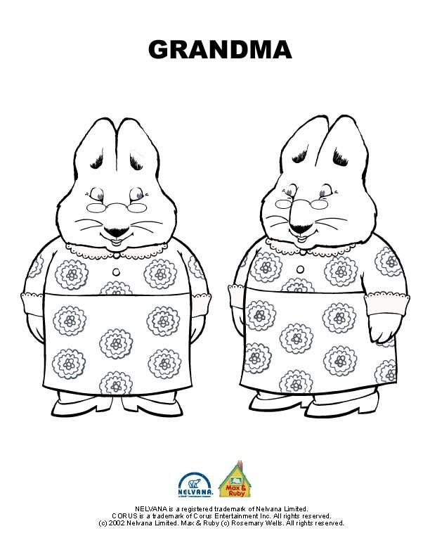 Max And Ruby Bunny Cakes Coloring Pages Elioleracom